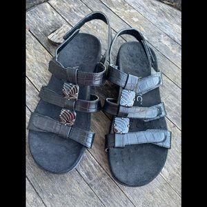 Vionic Amber beaded black sandals 6